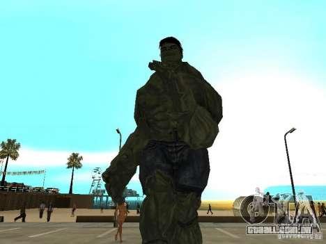 Hulk Skin para GTA San Andreas segunda tela