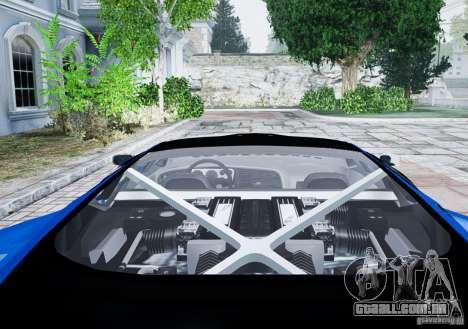 Jaguar XJ 220 para GTA 4 vista de volta