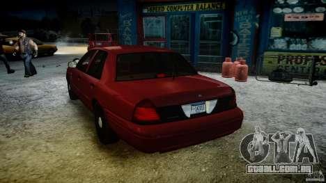 Ford Crown Victoria Detective v4.7 red lights para GTA 4 vista inferior