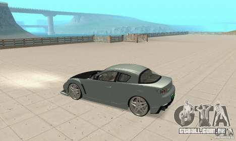 Mazda RX-8 Tuning para GTA San Andreas vista interior