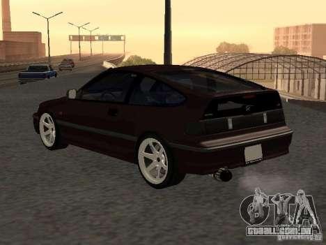 Honda Civic CRX JDM para GTA San Andreas vista traseira