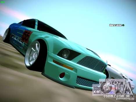 Ford Shelby GT500 Falken Tire Justin Pawlak 2012 para GTA San Andreas vista direita