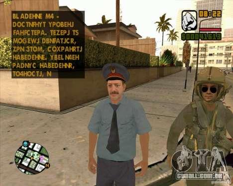 Pele polícia russa para GTA San Andreas