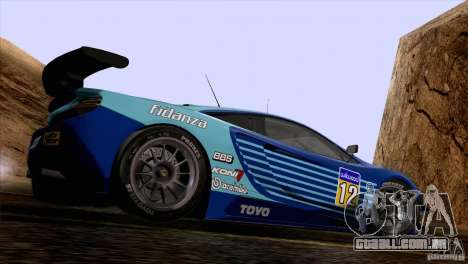 Pintura funciona McLaren MP4-12 c Speedhunters para GTA San Andreas esquerda vista