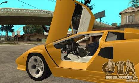 Lamborghini Countach para GTA San Andreas vista interior