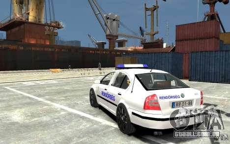 Skoda Octavia 2005 Hungarian Police para GTA 4 traseira esquerda vista