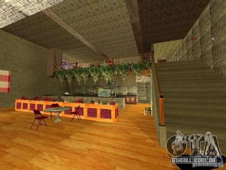 Bistrô de novo Marco interior para GTA San Andreas quinto tela