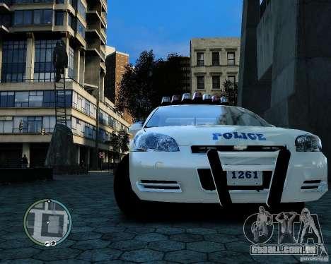 NYPD Chevrolet Impala 2006 [ELS] para GTA 4 vista de volta
