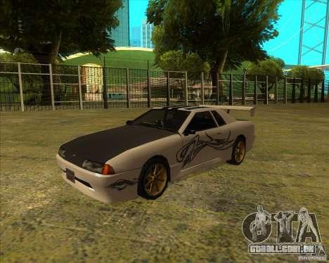 Pak vinis para padrão Elegy para GTA San Andreas vista direita