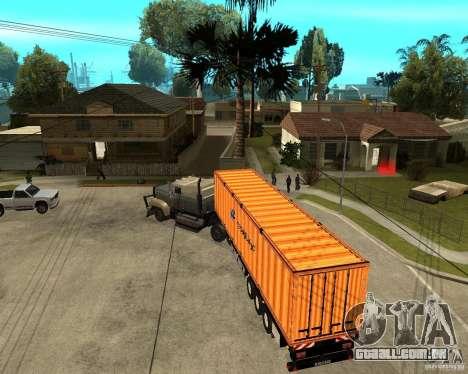 Krone Trailer Hapag-LLoyd para GTA San Andreas vista direita