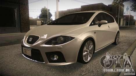 Seat Leon Cupra para GTA San Andreas vista interior