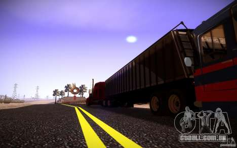 Kenworth W 900L para GTA San Andreas vista interior