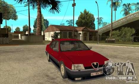 Alfa Romeo 164 para GTA San Andreas vista traseira