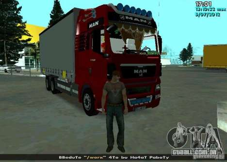 MAN TGL para GTA San Andreas vista direita