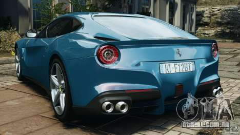 Ferrari F12 Berlinetta 2013 [EPM] para GTA 4 traseira esquerda vista