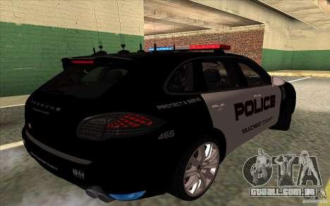 Porsche Cayenne Turbo 958 Seacrest Police para GTA San Andreas vista direita