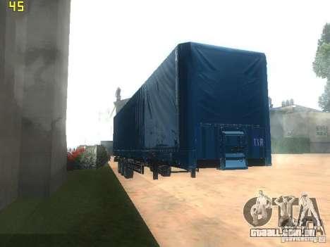Nefaz-93341 reboque-10-07 para GTA San Andreas vista traseira