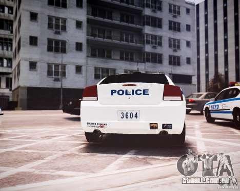 Dodge Charger 2010 NYPD ELS para GTA 4 vista direita