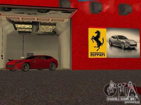 Novo Showroom da Ferrari em San Fierro para GTA San Andreas oitavo tela