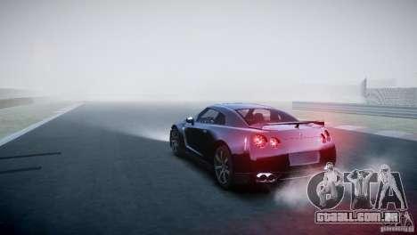 Nissan GT-R R35 V1.2 2010 para GTA 4 traseira esquerda vista
