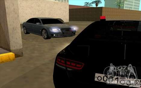 Audi A8l W12 6.0 para GTA San Andreas vista direita