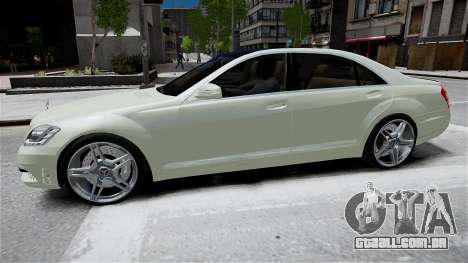 Mercedes-Benz S65 AMG LONG 2010 para GTA 4 vista de volta
