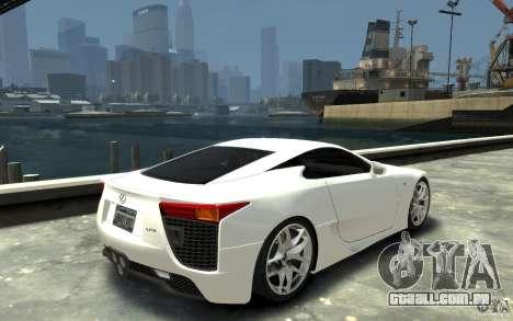 Lexus LFA v1.0 para GTA 4 vista direita