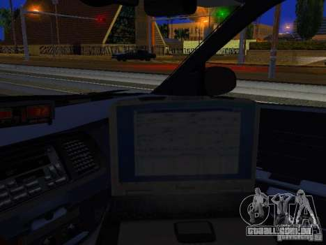 Ford Crown Victoria Erie County Sheriffs Office para GTA San Andreas vista interior