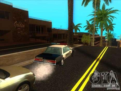 Dodge Diplomat 1985 LAPD Police para GTA San Andreas vista traseira