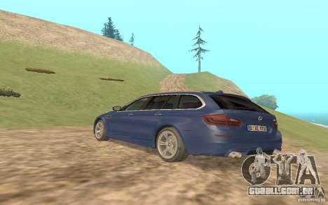 BMW M5 F11 Touring para GTA San Andreas vista traseira