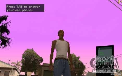 Telefone de GTA IV para GTA San Andreas segunda tela
