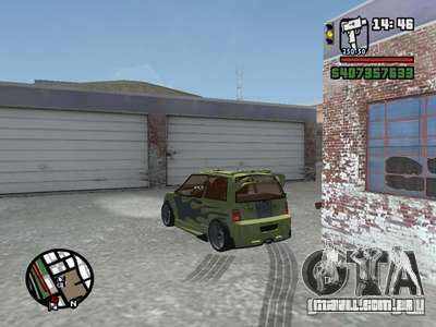 1111 OKA (tuning) para vista lateral GTA San Andreas