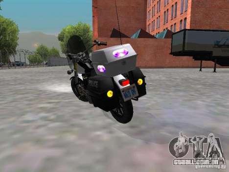 Harley Davidson Dyna Defender para GTA San Andreas vista direita