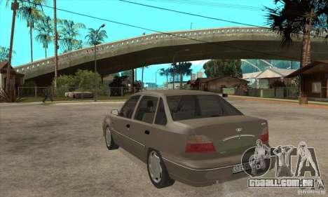 Daewoo Nexia Dohc 2009 para GTA San Andreas traseira esquerda vista
