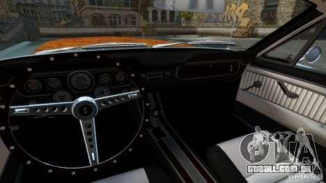 Ford Mustang GT MkI 1965 para GTA 4 vista interior