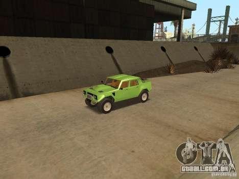 Lamborghini LM-002 v2 para GTA San Andreas vista traseira