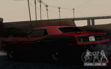 Plymouth Hemi Cuda 426 1971 para GTA San Andreas vista traseira