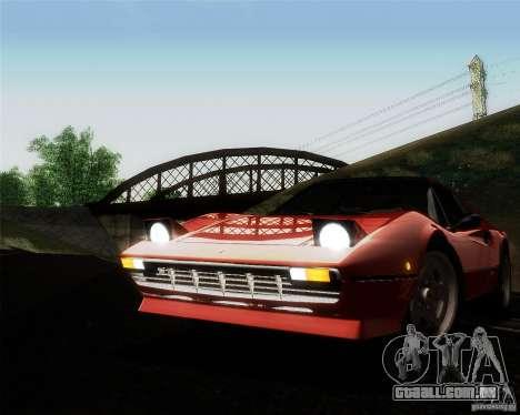 Ferrari 308 GTS Quattrovalvole para GTA San Andreas vista superior