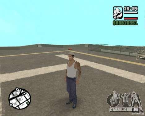 CJ Gopnik para GTA San Andreas quinto tela