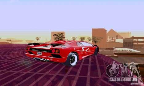 Lamborghini Diablo SV 1997 para GTA San Andreas vista traseira