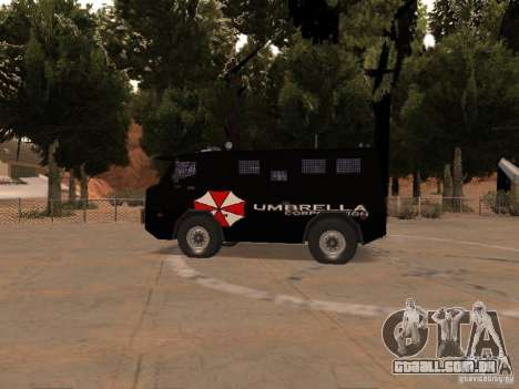 AM 7.0 Umbrella Corporation para GTA San Andreas traseira esquerda vista