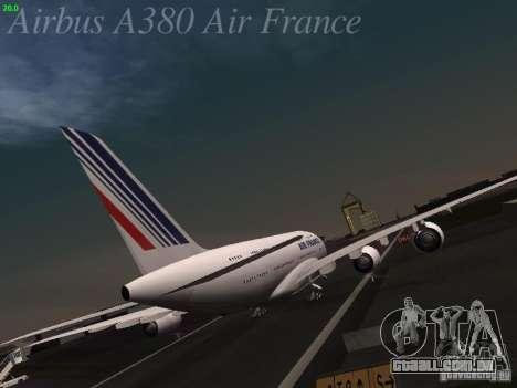 Airbus A380-800 Air France para GTA San Andreas vista direita