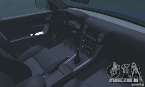 Subaru Legacy 2004 v1.0 para GTA San Andreas vista superior