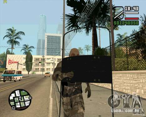 Escudo de armadura de Call of Duty Modern Warfar para GTA San Andreas
