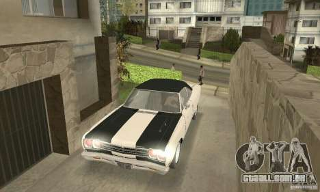 Plymouth Roadrunner 383 para GTA San Andreas vista inferior