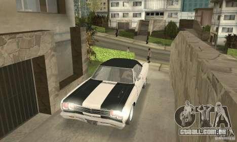 Plymouth Roadrunner 383 para GTA San Andreas vista inferior