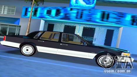 Lincoln Town Car 1997 para GTA Vice City deixou vista