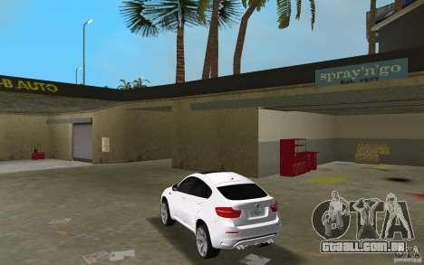 BMW X6M 2010 para GTA Vice City vista traseira esquerda