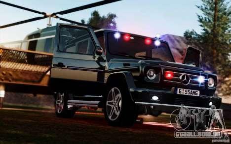 Mercedes-Benz G55 AMG para GTA 4 traseira esquerda vista