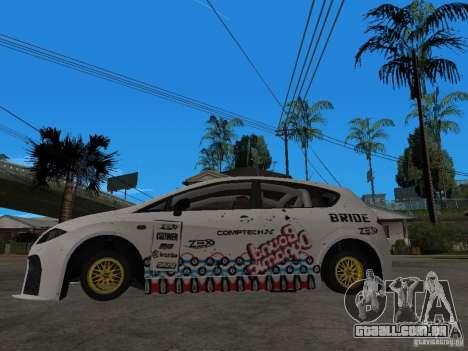 Seat Leon Cupra Bound Dynamic para GTA San Andreas esquerda vista